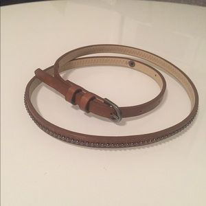 NWOT studded thin belt